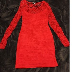 Charlotte Russe Lace ruched dress